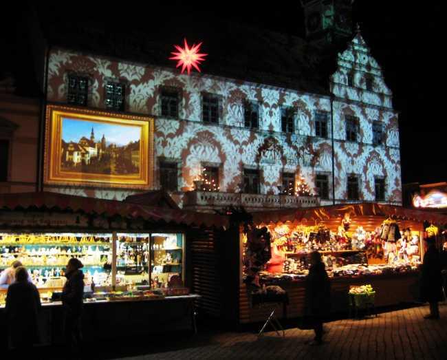 Fassadenprojektion Canaletto-Markt 2013 durch KP Media realisiert