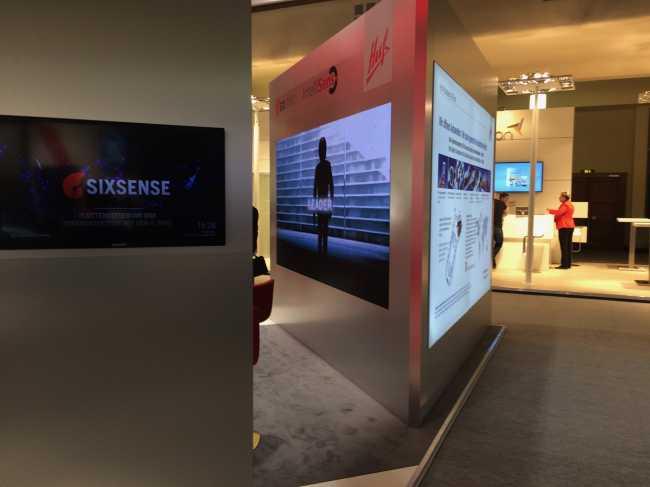große Videowall mieten Vermietung LED Wand Messe integriert